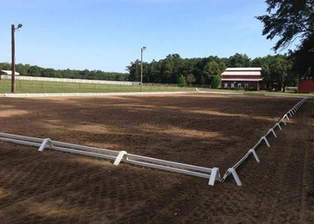 Lighted Outdoor Dressage arena
